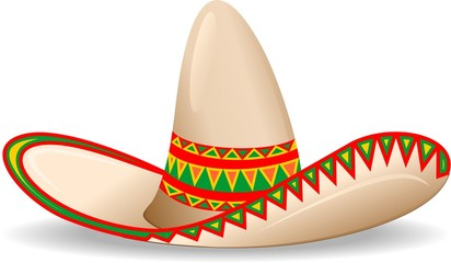Door stickers Draw Sombrero Messico Cappello-Mexican Sombrero-Vector