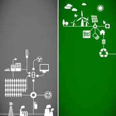 ecology banners - sustainable development concept