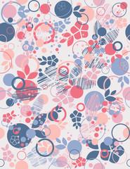 Floral seamless background. Vector illustration.