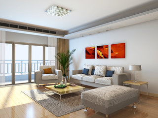 rendering living room