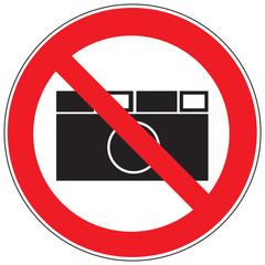 Zeichen Fotografieren verboten