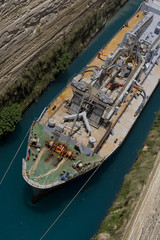 Ship in Corinth Canal