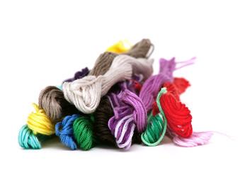 multicolored cotton threads