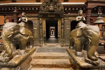 Golden temple at Patan Durbar Square.Nepal.