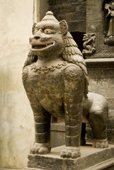 Statue of mythical lion.