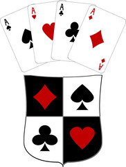 shield and four aces