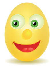 Egg with happy face, vector EPS 8