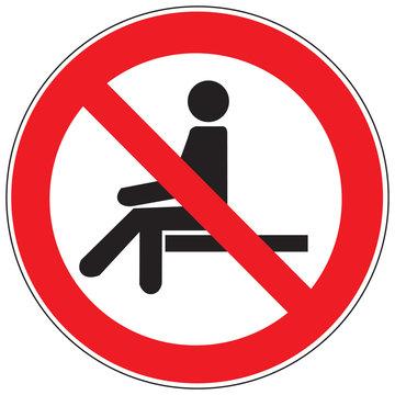 Zeichen Sitzen verboten