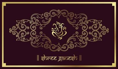 traditional Hindu wedding card