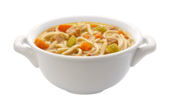 Chicken Noodle Soup (clipping path)