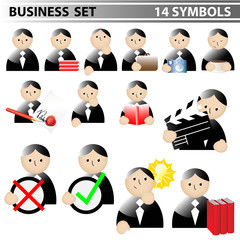 business set - 14 symbole