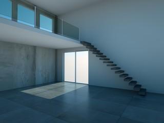 Loft mit Galerie und Treppe