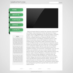 Template page web design