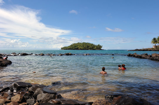 The convicts' pool of Isle Royale, French Guiana.