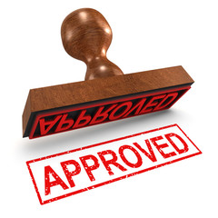 """3d Rubber Stamp - """"Approved"""""""