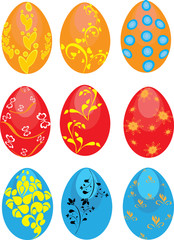 Set of Easter eggs on the isolated background