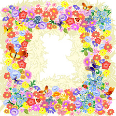 Frame flower romantic