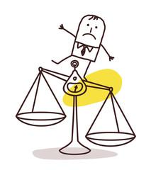 businessman and imbalance
