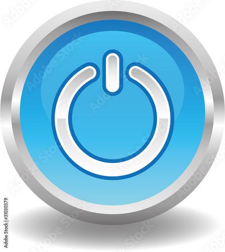 button rund blau an aus schalter stockfotos und. Black Bedroom Furniture Sets. Home Design Ideas