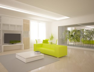 colored modern room