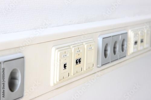 steckdosen und edv anschluss stockfotos und lizenzfreie bilder auf bild 31036965. Black Bedroom Furniture Sets. Home Design Ideas
