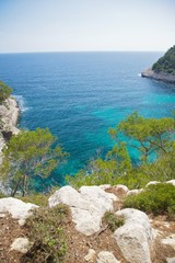 Mediterranean sea from Menorca cliff