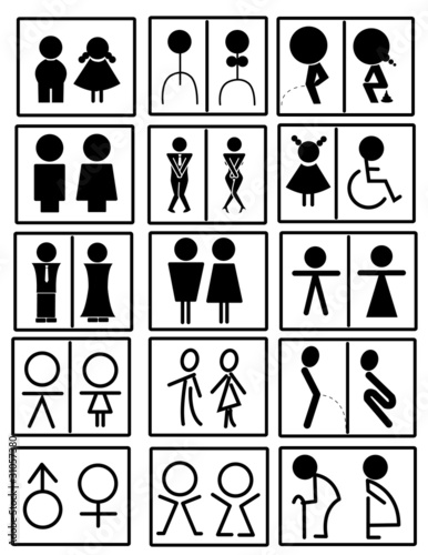 toilet sign vector. toilet sign vector  Stock image and royalty free vector files on