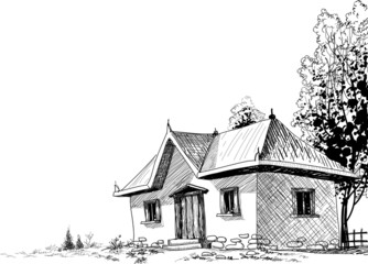 Old house sketch