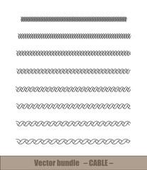 Aluminium Prints Spiral Spiralkabel Vectorset