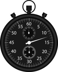 Black vector stop watch