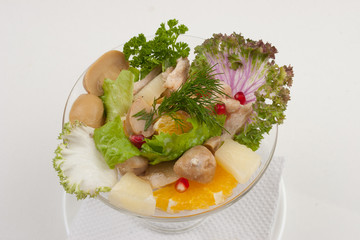 Salad with fruits and greens
