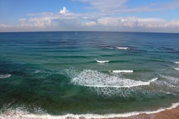 Coast of Mediterranean sea in serene  midday