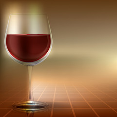 abstract illustration with wineglass