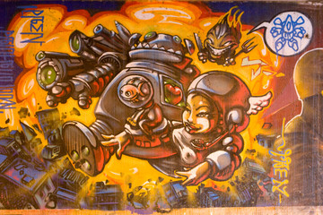 Graffiti Space Figures