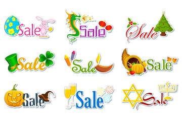 Sale Tag for Holidays