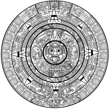 Vector Maya calendar
