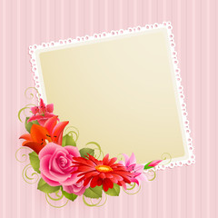 Wall Mural - flowers and place for text