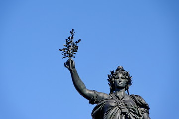 Statue de Marianne, Place de la République, Paris, France.
