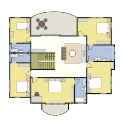 Floorplan First Second Floor Plan House Home Architecture