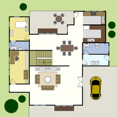 Floorplan Ground Floor Plan House Home Architecture
