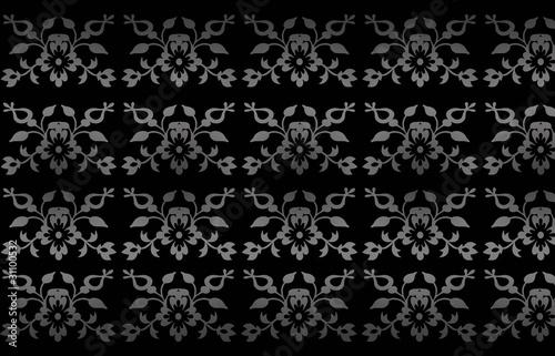 edle damast mustertapete hintergrund schwarz grau stockfotos und lizenzfreie vektoren auf. Black Bedroom Furniture Sets. Home Design Ideas