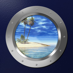 Porthole with view