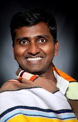 Happy Indian man smiling