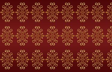 edles ornament mustertapete hintergrund rot gold