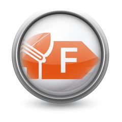 Symbole vectoriel diagnostic performance énergétique (DPE)  F