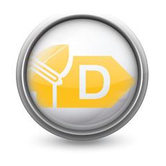 Symbole vectoriel diagnostic performance énergétique (DPE)  D