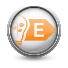 Symbole vectoriel diagnostic performance énergétique (DPE) E