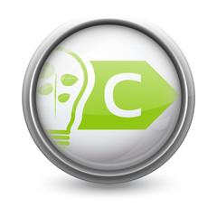 Symbole vectoriel diagnostic performance énergétique (DPE) C