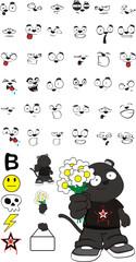 panther kid cartoon set4