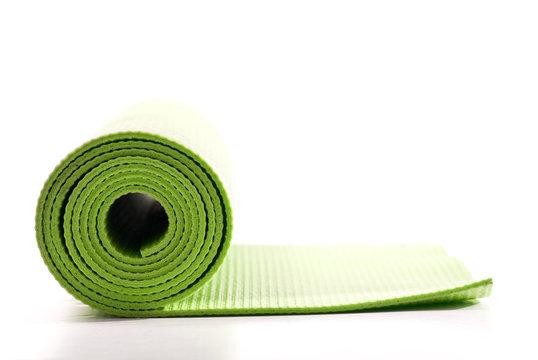 Green Yoga Excercise Fitness Mat